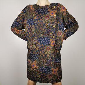 Vintage Maggie London medium geometric mini dress